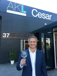 Cesar President, Dante Cester outsider the new AKL showroom