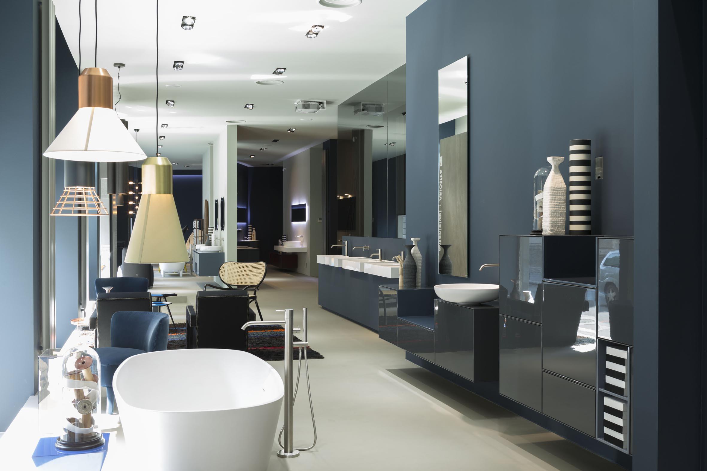 Antonio lupi restyled milan showroom for Outlet arredamento design milano