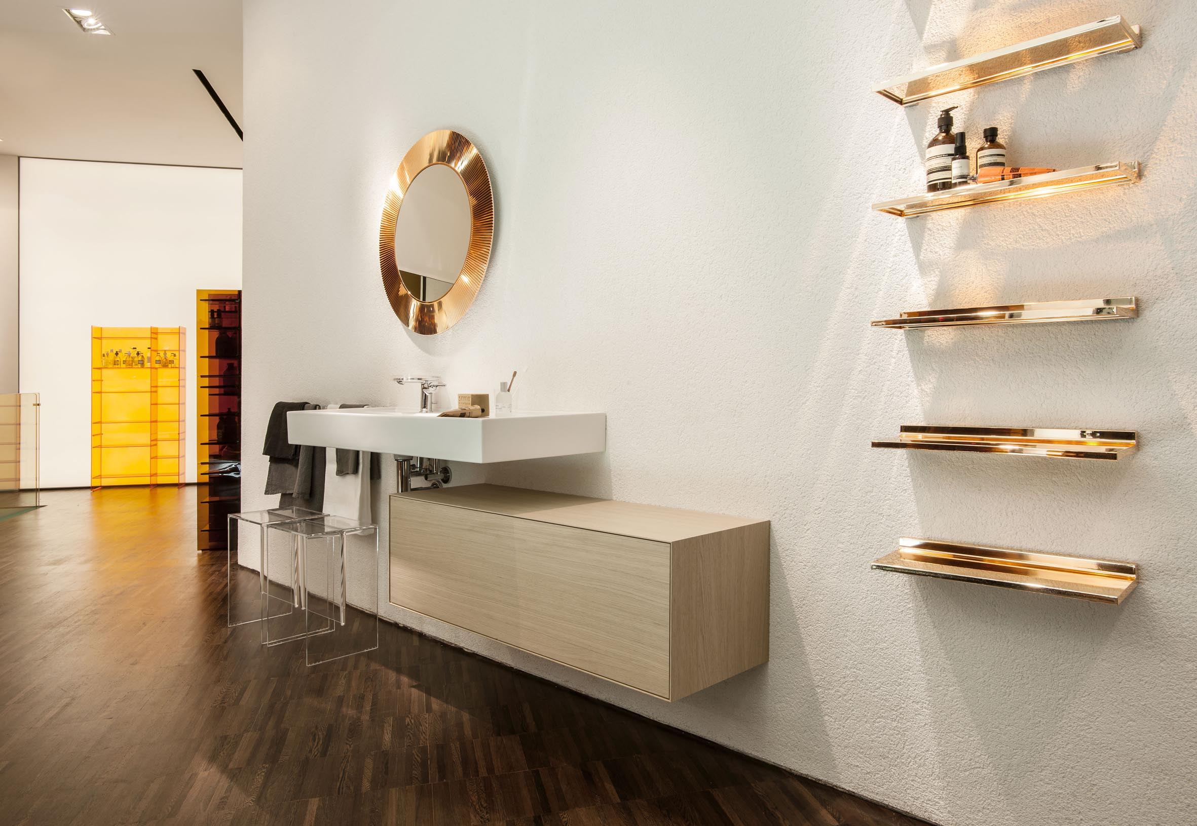 kartell by laufen store now open in milan the kitchen and bathroom blog. Black Bedroom Furniture Sets. Home Design Ideas